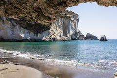 Gerontas beach at Milos island, Cyclades, Greece Stock Photography