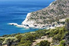 Gerontas beach at Milos island, Cyclades, Greece Stock Image