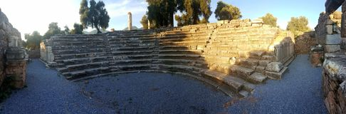 Gerontikon / Bouleuterion / Senate House of Nysa Ancient City. Royalty Free Stock Photo