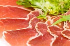 Gerookt ham met salade Royalty-vrije Stock Foto