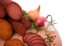 Gerookt vlees Royalty-vrije Stock Afbeeldingen