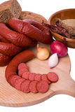 Gerookt vlees stock fotografie