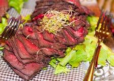 Gerookt walvisvlees Stock Foto