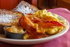 Gerookte bacon en eieren Royalty-vrije Stock Fotografie