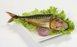 Gerookte makreel stock foto
