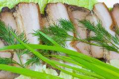Gerookte varkensvleesgerookt ham. Royalty-vrije Stock Foto