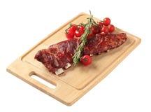 Gerookte varkensvleesribben Royalty-vrije Stock Afbeelding