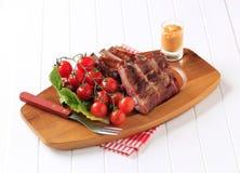 Gerookte varkensvleesribben Royalty-vrije Stock Afbeeldingen