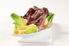 Gerookte varkensvleesribben Stock Afbeelding