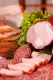 Gerookte vlees en worst Royalty-vrije Stock Afbeeldingen