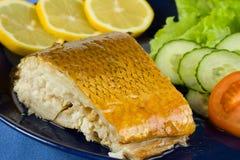 Gerookte witte vis, close-up stock fotografie