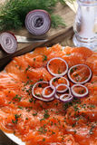 Gerookte zalm Stock Afbeelding
