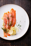 Gerookte zalm Royalty-vrije Stock Afbeelding