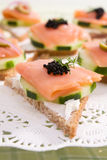 Gerookte Zalm Canape Royalty-vrije Stock Afbeelding