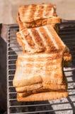 Geroosterd brood Stock Afbeeldingen