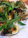 Geroosterd clamshell - beroemde zeevruchten in Vietnam Royalty-vrije Stock Afbeeldingen