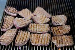 Geroosterd Japans wagyulapje vlees Stock Foto