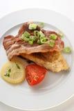 Geroosterd karperlapje vlees royalty-vrije stock foto