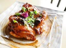 Geroosterd kippenlapje vlees Stock Foto's