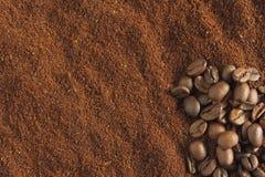 Geroosterd koffiedik Stock Afbeeldingen