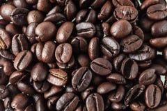 Geroosterd koffiezaad voor verse koffie Stock Foto