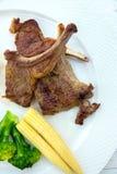 Geroosterd Lamslapje vlees Stock Foto