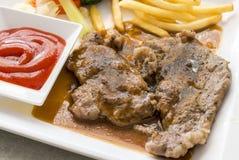 Geroosterd lapje vlees Stock Foto's