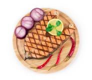 Geroosterd lapje vlees van zalm Royalty-vrije Stock Foto