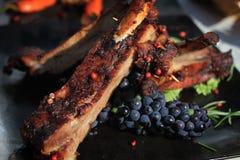Geroosterd lapje vleesvlees met salade Royalty-vrije Stock Afbeeldingen