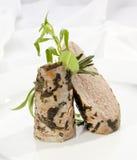 Geroosterd Lendestuk met groene kruiden royalty-vrije stock foto's