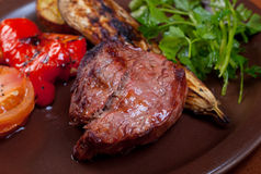 Geroosterd rundvlees - lapje vlees Royalty-vrije Stock Foto's