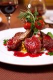 Geroosterd rundvlees met tomaat Stock Afbeelding