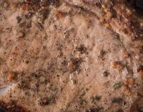 geroosterd rundvleeslapje vlees met rozemarijn, pan royalty-vrije stock afbeelding