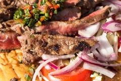 Geroosterd Schaap ribsmet Salade Stock Foto's