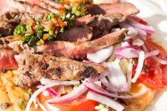 Geroosterd Schaap ribsmet Salade Stock Fotografie