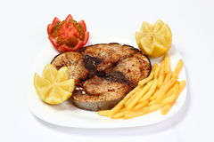 Geroosterd tonijnlapje vlees Stock Foto's