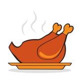 Geroosterd Turkije voor thanksgiving day Royalty-vrije Stock Foto's