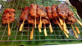 Geroosterd varkensvlees op het fornuis royalty-vrije stock foto