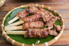 Geroosterd Varkensvlees voor Broodje Cha in Vietnam Royalty-vrije Stock Foto