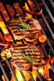 Geroosterd varkensvleeslapje vlees stock afbeeldingen
