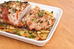 Geroosterd varkensvleeslendestuk Stock Fotografie