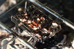 Geroosterd vlees bij de staak Stock Foto's