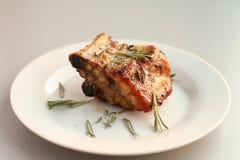 Geroosterd vlees met kruiden Stock Afbeelding