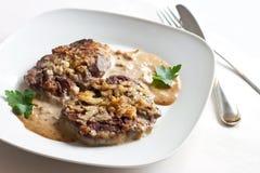 Geroosterd vlees met saus Stock Afbeeldingen