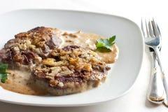 Geroosterd vlees met saus Royalty-vrije Stock Foto