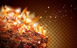 Geroosterd vleeselement Stock Afbeeldingen