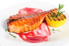 Geroosterd zalmlapje vlees Royalty-vrije Stock Afbeelding