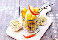 Geroosterde aardappel Royalty-vrije Stock Afbeeldingen