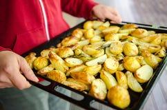 Geroosterde aardappels royalty-vrije stock fotografie