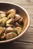 Geroosterde aardappels Stock Foto's